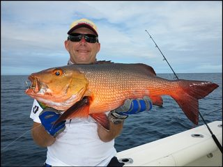 Typical Red Bass Sportfishing Vanuatu