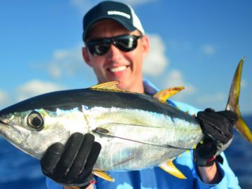 Brett Lee enjoys yellow fin fishing