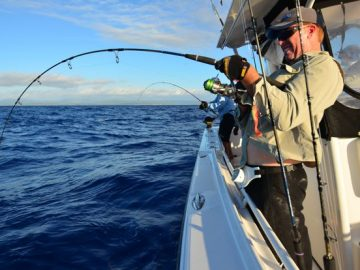 Dom Thornely enjoys Ocean Blue Fishing