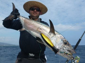 Dogtooth tuna fishing by Nelson Dueza's crew