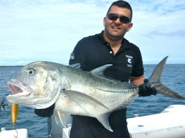 Nelson Dueza's crew on GT fishing