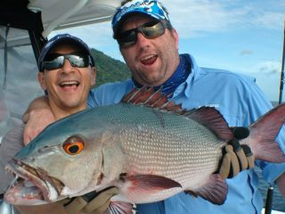 Red bass fishing by Nelson Dueza's crew