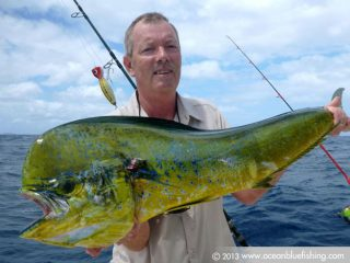 mahi-mahi fishing by Toby Browne's mates