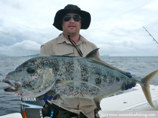 Ocean Blue Fishing crews are experienced fishers and GT chasers!