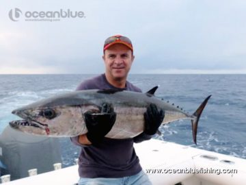 Only Ocean Blue Fishing team knows how to catch a fish as big as this!