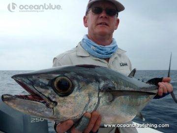 angler shows wahoo