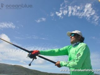 Marco Guarisco holding his fishing rod