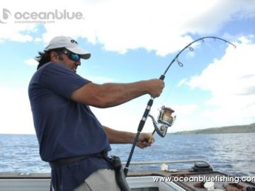 Marco Guarisco holding his fishing rod tight