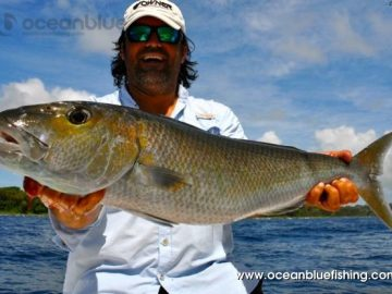 Marco Guarisco all smile with this big fish