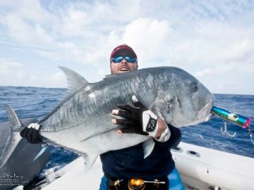 angler with his huge gt fish