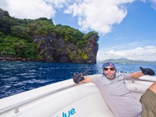 angler relaxing in the boat