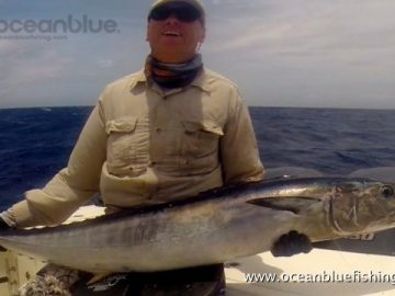 Alan Morrison Mothership Trip: angler and his dogtooth tuna