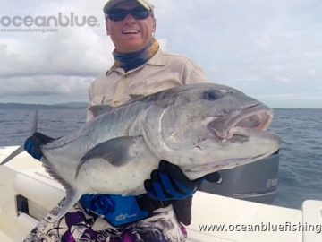Alan Morrison Mothership Trip: angler so happy with this huge gt