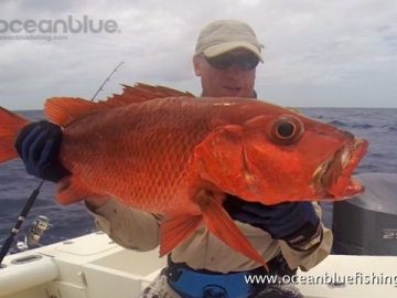 Alan Morrison Mothership Trip: angler so happy with his red bass