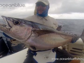 Alan Morrison Mothership Trip: angler showing dogtooth tuna
