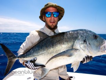 GT sports fishing around Vanuatu islands