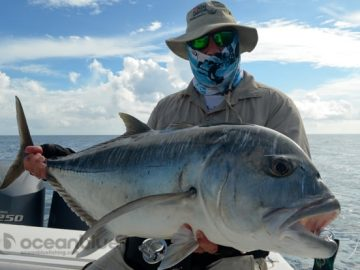 five fishing adventurers - Giant Trevally fish