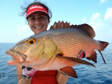 red bass fishing by Hayley Bonnici's crew