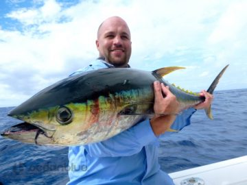 Mark Stylianou yellowfin fishing in Vanuatu