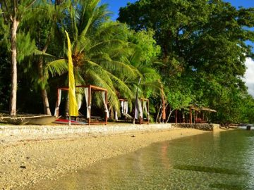 beautiful scenery at Trees and Fishes lodge in Vanuatu