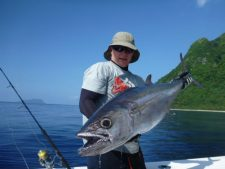 trees and fishes medium size dogtooth tuna fishing