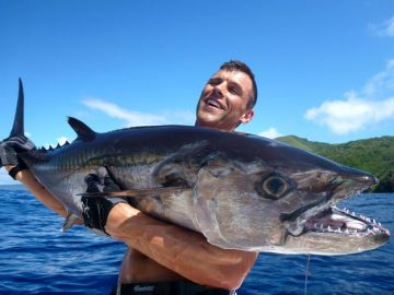 Shaun Maxwell on dogtooth tuna fishing