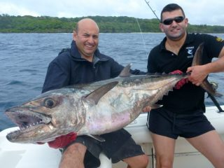 Nelson Dueza's crew on dogtooth fishing