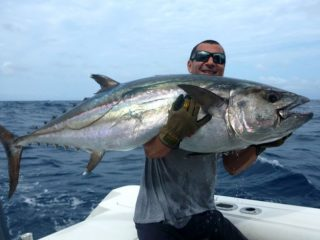 Nelson Dueza's crew on dogtooth tuna fishing