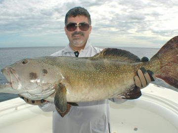 Coral trout fishing by Nelson Dueza's crew