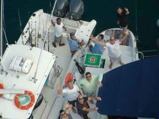 Nelson Dueza's crew enjoy Ocean Blue Fishing