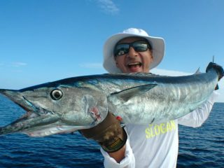 Wahoo fishing by Nelson Dueza's crew