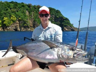 Deep sea fishing for Dogtooth tuna