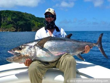 Fishing in Vanuatu for Dogtooth tuna or White Tuna