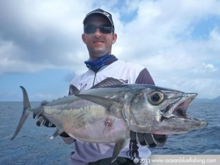So far, the biggest dogtooth tuna I've ever hold