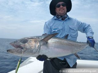 This dogtooth tuna is smiling for the camera and so I'm too