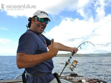 Marco Guarisco all smile waiting to catch some fish