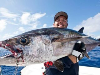 dogtooth tuna and the angler