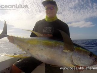 Joe caught a Yellowfin weighing in at 42kg and landed Man of the Match
