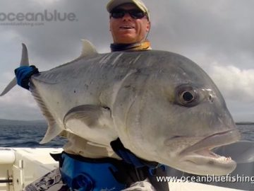 Alan Morrison Mothership Trip: angler so happy with this big gt