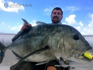 Ocean Blue guest Paul Musgarve's 50kg GT catch