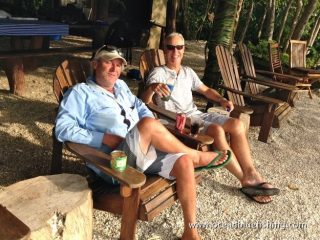 Nature's Way Company: anglers relaxing outside the beach