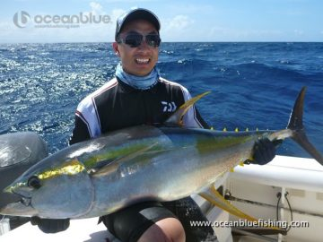 huge yellow fin caught by this angler
