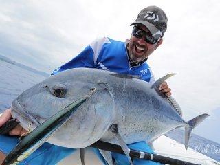 Mark Berg Vanuatu GT fishing with Ocean Blue fishing