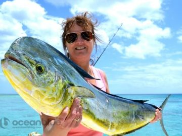 posing with this mahi mahi