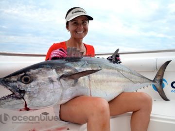 Hayley Bonnici crew's huge dogtooth fish catch
