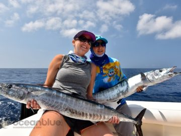 Shefishes wahoo fishing experience