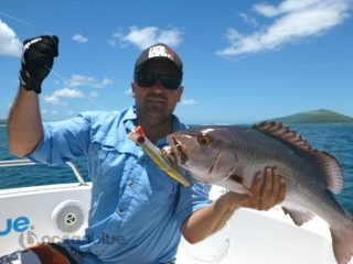 David during his sports fishing adventure in Vanuatu