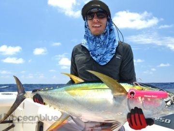 vanuatu yellowfin tuna caught on popper
