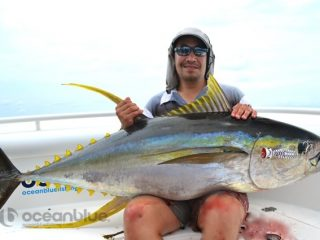 45kg yellowfin caught on popper