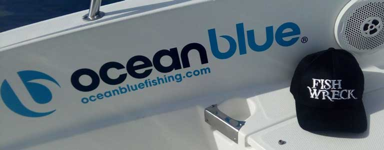Ocean Blue Fishing Ties Up with Fishwreck for the boats' new look